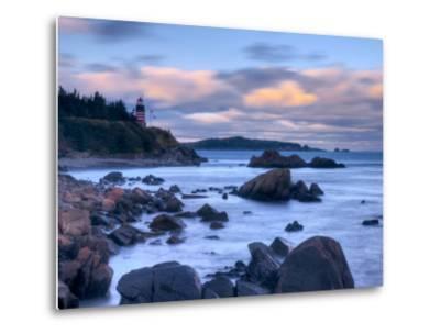 Maine, Lubec, West Quoddy Lighthouse, USA-Alan Copson-Metal Print