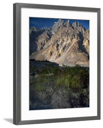 Cathedral Spire Mountains Passu in Northern Pakistan-Antonia Tozer-Framed Photographic Print