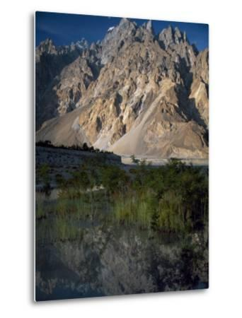 Cathedral Spire Mountains Passu in Northern Pakistan-Antonia Tozer-Metal Print