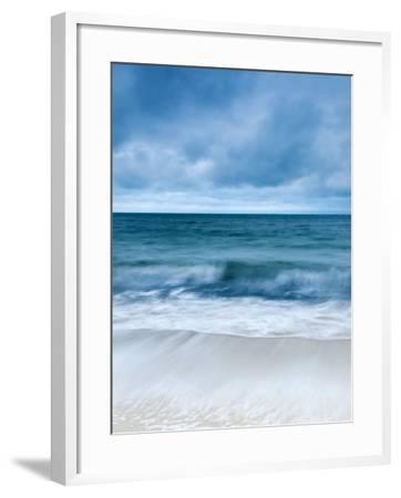 Sunrise at Porthminster Beach, Near St, Ives, Cornwall, UK-Nadia Isakova-Framed Photographic Print