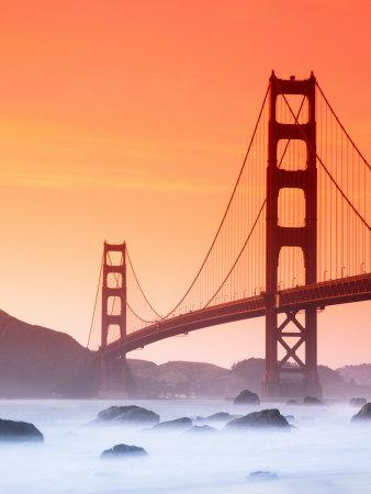 California, San Francisco, Golden Gate Bridge from Marshall Beach, USA-Alan Copson-Framed Photographic Print