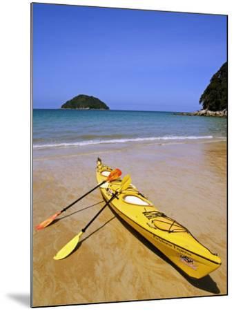 South Island, Nelson, Kayak on Onetahuti Beach in Abel Tasman National Park, New Zealand-Christian Kober-Mounted Photographic Print
