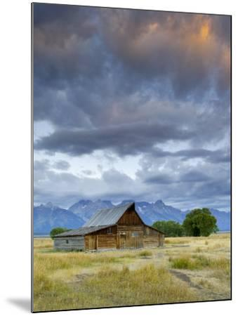 Old Barn and Teton Mountain Range, Jackson Hole, Wyoming, USA-Michele Falzone-Mounted Photographic Print