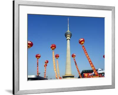 Beijing, Cctv Tower, China Central Television Is the Country's National Public Broadcaster, China-Christian Kober-Framed Photographic Print
