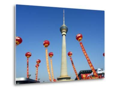 Beijing, Cctv Tower, China Central Television Is the Country's National Public Broadcaster, China-Christian Kober-Metal Print