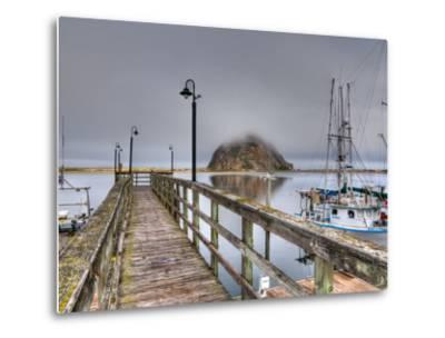 California, Morro Bay, Morro Rock, USA-Alan Copson-Metal Print