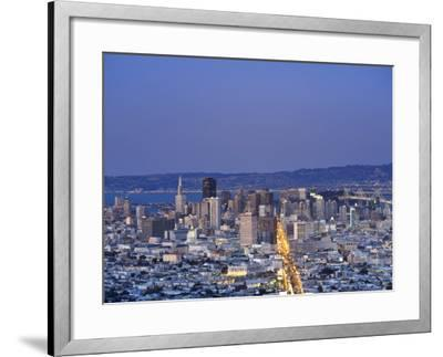 California, San Francisco, Skyline Viewed from Twin Peaks, USA-Michele Falzone-Framed Photographic Print