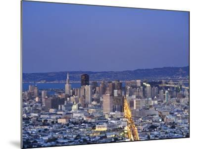 California, San Francisco, Skyline Viewed from Twin Peaks, USA-Michele Falzone-Mounted Photographic Print