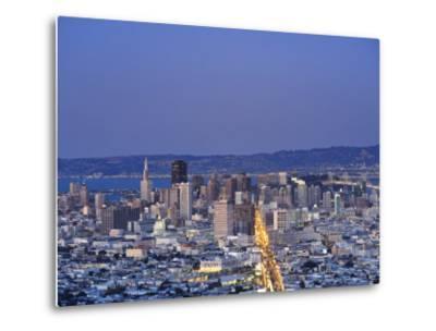 California, San Francisco, Skyline Viewed from Twin Peaks, USA-Michele Falzone-Metal Print