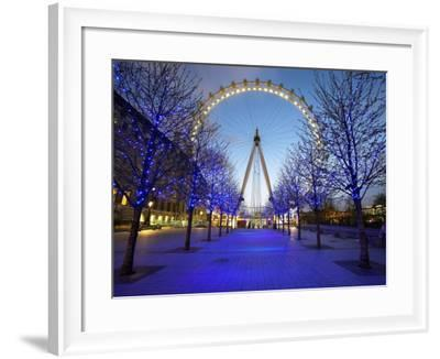 London Eye Is Giant Ferris Wheel, Banks of Thames Constructed for London's Millennium Celebrations-Julian Love-Framed Photographic Print