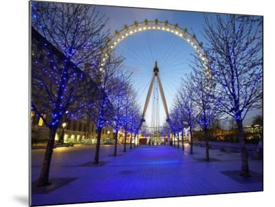 London Eye Is Giant Ferris Wheel, Banks of Thames Constructed for London's Millennium Celebrations-Julian Love-Mounted Photographic Print
