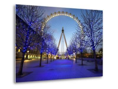 London Eye Is Giant Ferris Wheel, Banks of Thames Constructed for London's Millennium Celebrations-Julian Love-Metal Print