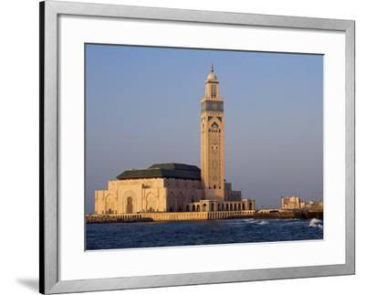 Hassan Ii Mosque in Casablanca, the Third Largest in World after Those at Mecca and Medina, Morocco-Julian Love-Framed Photographic Print