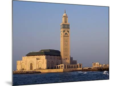 Hassan Ii Mosque in Casablanca, the Third Largest in World after Those at Mecca and Medina, Morocco-Julian Love-Mounted Photographic Print
