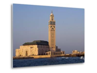 Hassan Ii Mosque in Casablanca, the Third Largest in World after Those at Mecca and Medina, Morocco-Julian Love-Metal Print