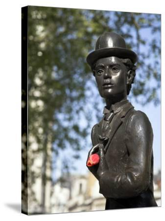 Statue of Charlie Chaplin in Leicester Square, in the Heart of London's West End-Julian Love-Stretched Canvas Print
