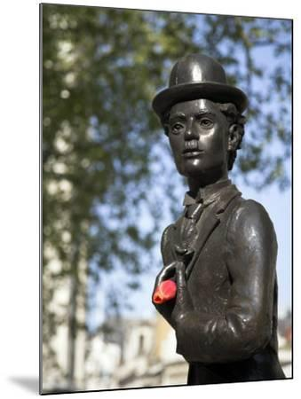 Statue of Charlie Chaplin in Leicester Square, in the Heart of London's West End-Julian Love-Mounted Photographic Print