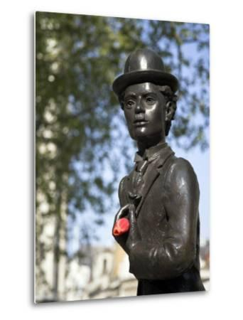 Statue of Charlie Chaplin in Leicester Square, in the Heart of London's West End-Julian Love-Metal Print