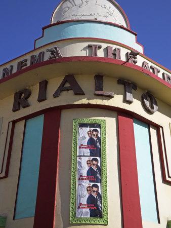Brightly Coloured Art Deco Cinema-Theatre Rialto on Rue Mohammed Qorri-Julian Love-Framed Photographic Print