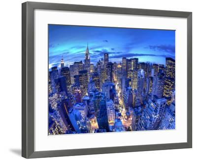 Chrysler Building and Midtown Manhattan Skyline, New York City, USA-Jon Arnold-Framed Photographic Print