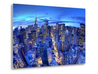 Chrysler Building and Midtown Manhattan Skyline, New York City, USA-Jon Arnold-Metal Print
