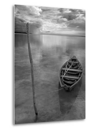 Dug Out Canoe Used by Local Fishermen Pulled Up on Banks of Rio Tarajos, Tributary of Amazon River-Mark Hannaford-Metal Print