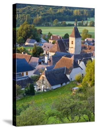 Village D'Aucun, Hautes- Pyrenees, France-Doug Pearson-Stretched Canvas Print
