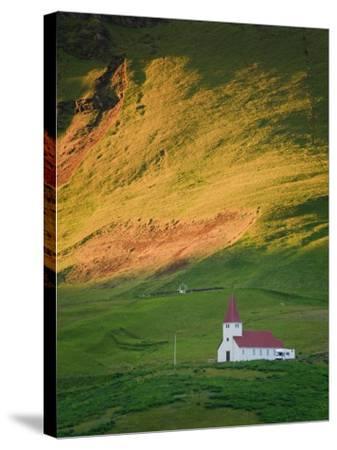 Vik Historic Church, Vik, South Coast, Iceland-Michele Falzone-Stretched Canvas Print