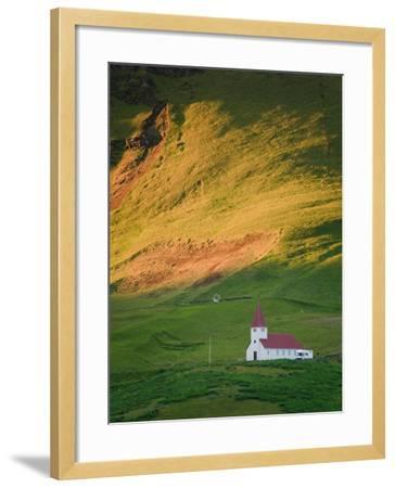 Vik Historic Church, Vik, South Coast, Iceland-Michele Falzone-Framed Photographic Print