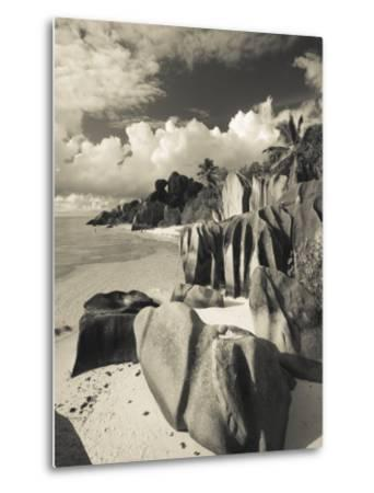 Seychelles, La Digue Island, L'Union Estate Plantation, Anse Source D'Argent Beach-Walter Bibikow-Metal Print