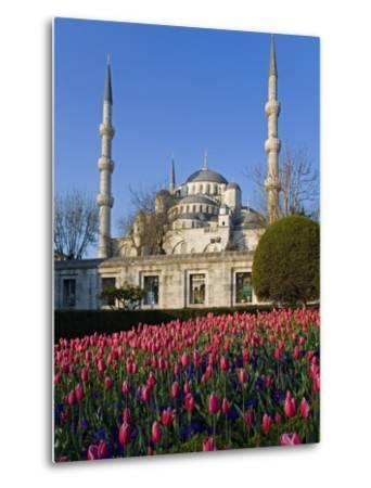 Blue Mosque, also known as the Sultanahmet Mosque, Gives its Name to the Surrounding Area-Julian Love-Metal Print