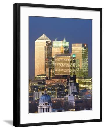 Greenwich Park Towards the Royal Naval College and Canary Wharf, London, England, UK-Gavin Hellier-Framed Photographic Print