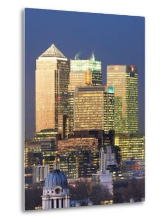 Greenwich Park Towards the Royal Naval College and Canary Wharf, London, England, UK-Gavin Hellier-Metal Print