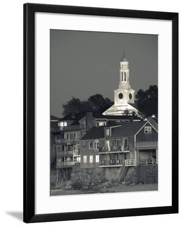 Massachusetts, Cape Ann, Rockport, Town View from Front Beach, USA-Walter Bibikow-Framed Photographic Print