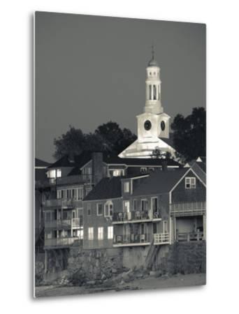 Massachusetts, Cape Ann, Rockport, Town View from Front Beach, USA-Walter Bibikow-Metal Print