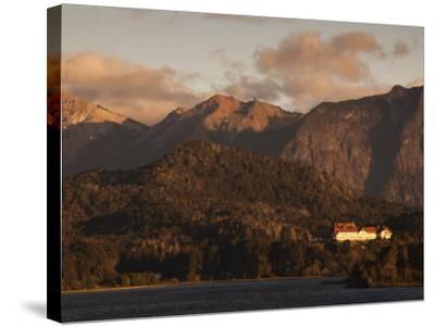 Rio Negro Province, Lake District, Llao Llao, Hotel Llao Llao and Lake Nahuel Huapi, Argentina-Walter Bibikow-Stretched Canvas Print