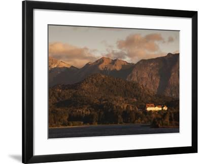 Rio Negro Province, Lake District, Llao Llao, Hotel Llao Llao and Lake Nahuel Huapi, Argentina-Walter Bibikow-Framed Photographic Print