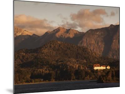 Rio Negro Province, Lake District, Llao Llao, Hotel Llao Llao and Lake Nahuel Huapi, Argentina-Walter Bibikow-Mounted Photographic Print