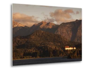 Rio Negro Province, Lake District, Llao Llao, Hotel Llao Llao and Lake Nahuel Huapi, Argentina-Walter Bibikow-Metal Print