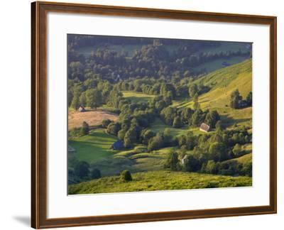 Valley Floor at Dawn, Grange Sous La Neige, Midi-Pyrenees, France-Doug Pearson-Framed Photographic Print