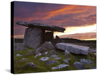 Poulnabrone Dolmen, the Burren, Co, Clare, Ireland-Doug Pearson-Stretched Canvas Print