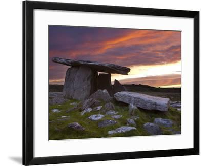 Poulnabrone Dolmen, the Burren, Co, Clare, Ireland-Doug Pearson-Framed Photographic Print