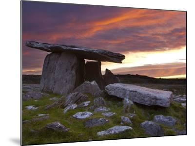 Poulnabrone Dolmen, the Burren, Co, Clare, Ireland-Doug Pearson-Mounted Photographic Print