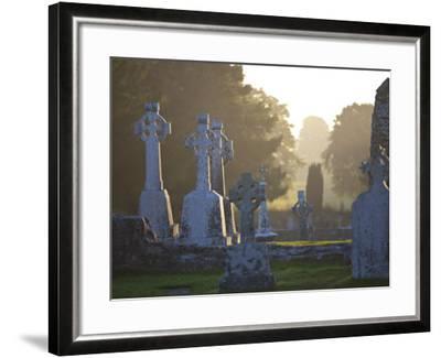Clonmacnoise Monastery, Co Offlay, the Midlands, Ireland-Doug Pearson-Framed Photographic Print