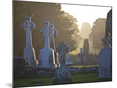 Clonmacnoise Monastery, Co Offlay, the Midlands, Ireland-Doug Pearson-Mounted Photographic Print