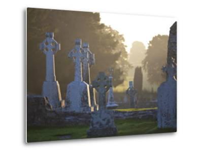 Clonmacnoise Monastery, Co Offlay, the Midlands, Ireland-Doug Pearson-Metal Print