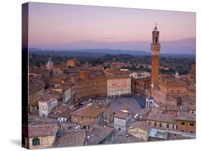 Palazzo Publico and Piazza Del Campo, Siena, Tuscany, Italy-Doug Pearson-Stretched Canvas Print