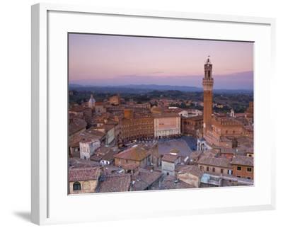Palazzo Publico and Piazza Del Campo, Siena, Tuscany, Italy-Doug Pearson-Framed Photographic Print