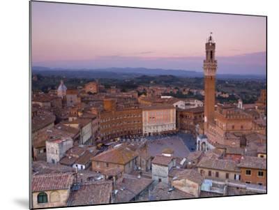 Palazzo Publico and Piazza Del Campo, Siena, Tuscany, Italy-Doug Pearson-Mounted Photographic Print