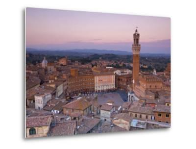Palazzo Publico and Piazza Del Campo, Siena, Tuscany, Italy-Doug Pearson-Metal Print